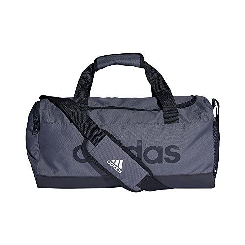 adidas Linear Duffel S - Borsa sportiva, per adulti, unisex, grigio/nero/nero, multicolore, taglia unica