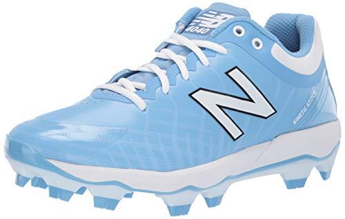 New Balance Men's 4040 V5 TPU Molded Baseball Shoe, Baby Blue/White