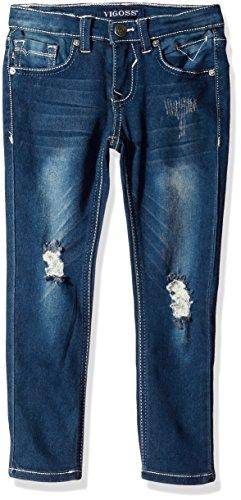Vigoss Girls' Big 5 Pocket Skinny Jean, Pebble, 16