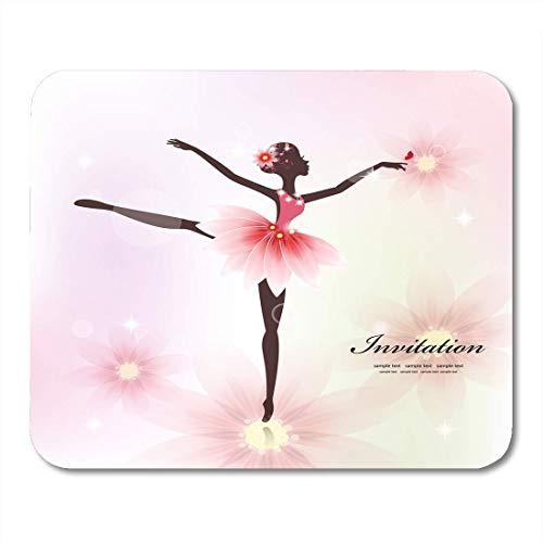 Not Applicable Alfombrillas de ratón, Bailarina Bonita Bailarina para su diseño Ballet Abstracto Antiarrugas Alfombrilla de ratón para Escritorio decoración Escritorio,18x22cm