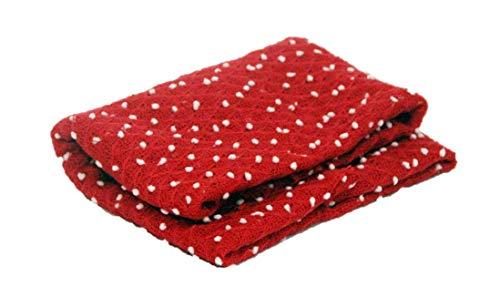 Bebé recién nacido niña/niño Mohair Wrap Swaddle manta fotografía apoyo (Roja)