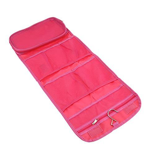 OTOTEC Trousse de rangement de voyage à suspendre pour maquillage, cosmétique, sac de rangement pliable Rose