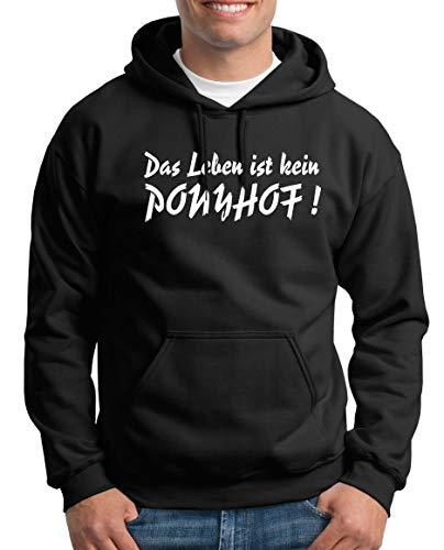 TShirt-People Das Leben ist Nicht Ponyhof Pull à Capuche pour Homme - Noir - Medium