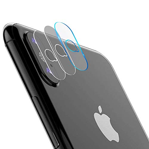 Casetego Compatible iPhone XS Max/Xs/X Camera Lens Protector, [3 Pack]Ultra Thin Transparent Clear Camera Tempered Glass Protector,High Definition Protector for Apple iPhone XS Max/Xs/X ,Clear