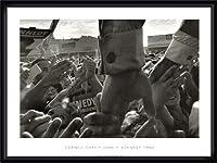 ポスター コーネル キャパ JFK Hands North Hollywood 1960 額装品 ウッドハイグレードフレーム(ブラック)