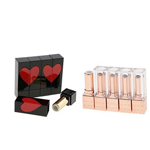 Generic Pack De 10 Pièces Maquillage Plastique Cosmétique DIY 12.1mm Rouge À