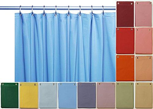 Elegant Home Heavy Duty Vinyl Shower Curtain Liner with 12 Metal Grommets Sky Blue
