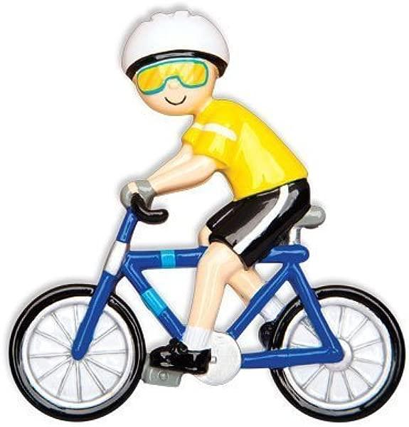 由 Polar X 设计的运动自行车骑手男性个性化圣诞树装饰品