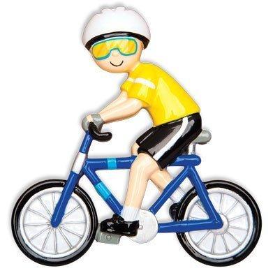 Sport Cycling Bike Rider Male Personalized Christmas Tree Ornament by Polar X