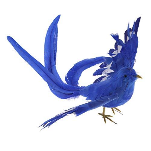 Homyl - Figura Decorativa con diseño de pájaro y alas desdobladas, cumpleaños, Turquesa