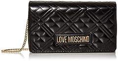 Idea Regalo - Love Moschino Borsa Quilted Nappa PU, Donna, Nero, Normale