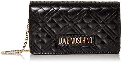 Love Moschino Borsa Quilted Nappa PU, Donna, Nero,...