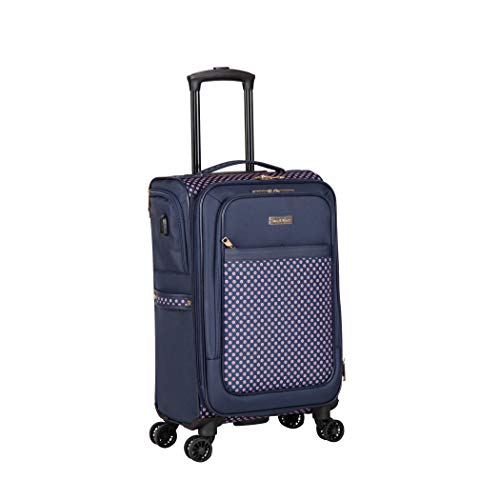 Isaac Mizrahi Soho 20' 8-Wheel Spinner Luggage, Navy Red