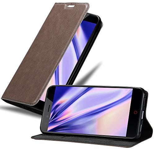 Cadorabo Hülle für ZTE Nubia Z11 Mini S in Kaffee BRAUN - Handyhülle mit Magnetverschluss, Standfunktion & Kartenfach - Hülle Cover Schutzhülle Etui Tasche Book Klapp Style