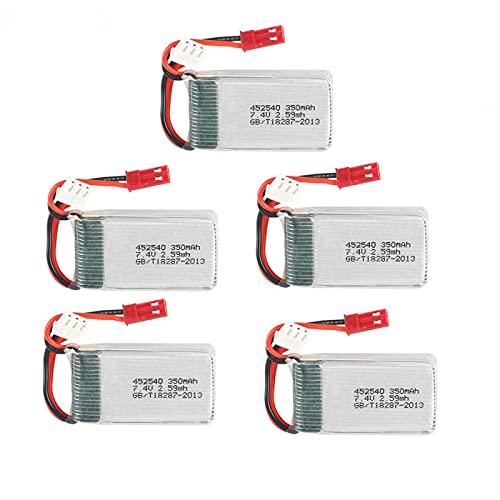 Batteria Lipo 7.4v 350mAh per MJX X401H X402 per JXD 515 515W 515V RC Mini Drone Helicopters Pezzi di Ricambio 2s Batteria