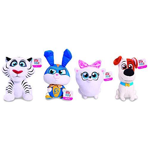 Mascotas 2 - Peluche 20 cm, Modelos surtidos (Giochi Preziosi ECE01000)