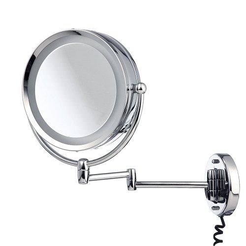 Spiegel mit Beleuchtung in Wandversion mit Schwenkarm