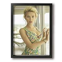 スカーレット・ヨハンソン Scarlett Johansson アートパネル 壁飾り 絵画 壁掛け ポスター 写真 インテリア フレーム アートポスター キャンバス絵画 壁アート モダン リビングルーム 木枠付きの完成品 30x40cm