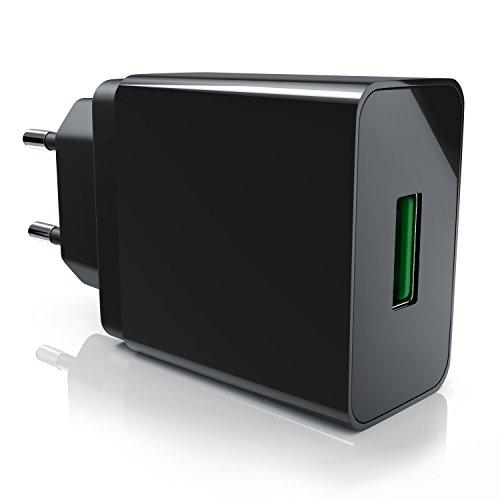 CSL - 18 W Cargador USB Quick Charge - Adaptador de Red con función de Carga rápida - Tecnología de identificación de Carga Inteligente Smart Charge Protección contra sobrecargas
