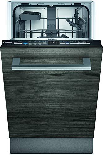 Siemens SR61HX12KE iQ100 Vollintegrierter Geschirrspüler/A+ / 220 kWh/Jahr / 2380 L/Jahr/WLAN-Fähig über Home Connect/Hygiene Plus Programm/varioSpeed Plus Schwarz