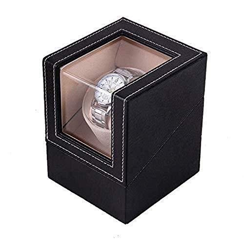 HYCy Caja de Almacenamiento de Reloj Agitador de Reloj Medidor de Giro Agitador Individual Reloj mecánico doméstico Caja de bobinado automático Caja de Reloj Moda