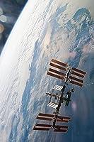 国際宇宙ステーションISS 大人のためのダイヤモンドペインティングキット、アクセサリーツール付きの5Dクリスタルダイヤモンドアート、家の装飾ギフトのための写真DIYアートクラフト 40X50CM