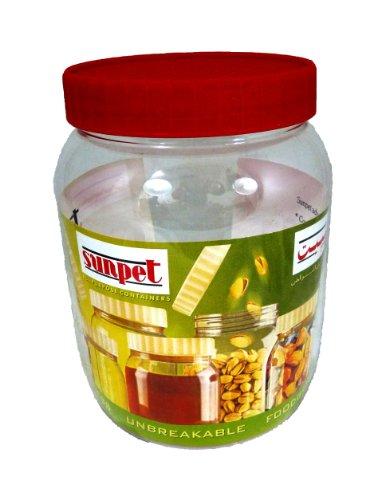 Sunpet Barattoli per conservare gli alimenti, in plastica, plastica, Red, 500 ml, Confezione da 3