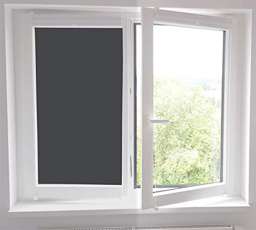 timalo® Blickdichte Verdunkelungsfolie Selbstklebende Fensterfolie Sichtschutzfolie Klebefolie Sonnenschutzfolie dunkle Folie Fenster UV-Schutz | Wunschlänge | (anthrazit, 93x200cm)