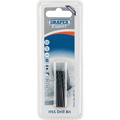 Draper 38710 Expert HSS Drill Bit, 2.0mm Ø, Pack of 10