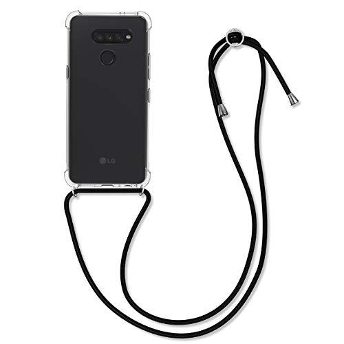 kwmobile Necklace Hülle kompatibel mit LG K50S - Hülle Silikon mit Handykette - Band Handyhülle Transparent