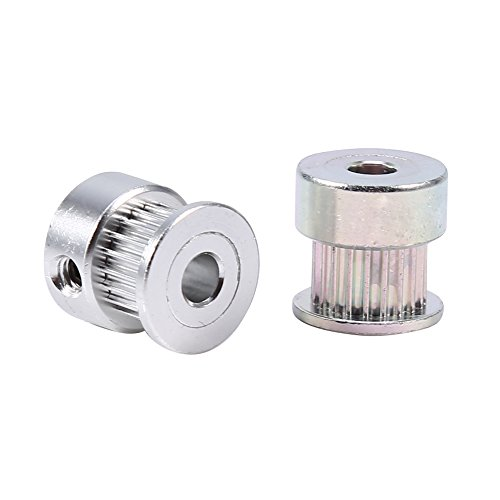 2 piezas 20 dientes de aleación de aluminio engranajes correa dentada rueda dentada 5 mm orificio diámetro interior para impresora 3D