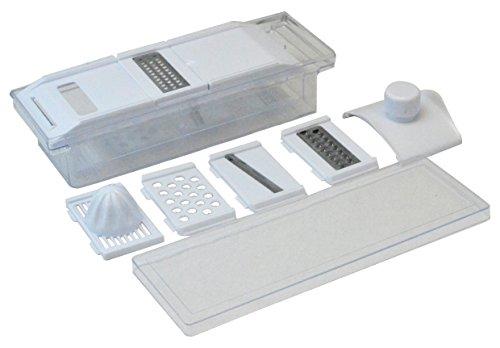 Southern Electronics–5en 1Mandolina en juliana cortador rallador picadora de exprimidor frutas verduras herramienta de cocina,, color blanco