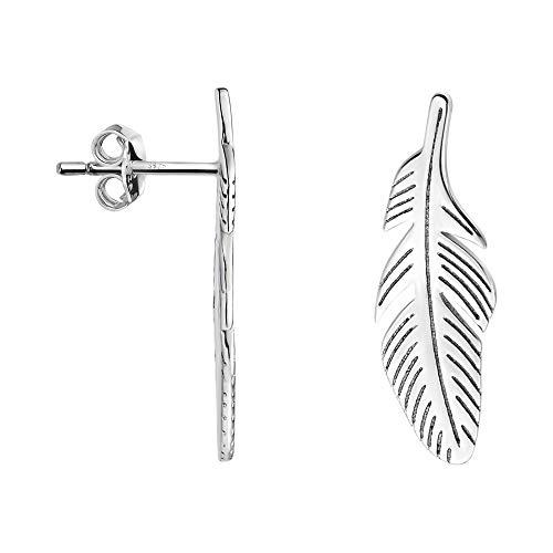 SOFIA MILANI - Pendientes de mujer de plata 925 – Pendientes de pluma – 20880