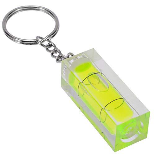 MBV Mini Acryl Spirit Level Sleutelhanger 15x15x40mm Sleutelhanger Tool Gadget Groen Vrouwen Mannen