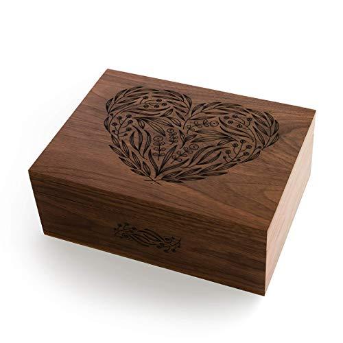 Laser Cut Wooden Heart Keepsake Box