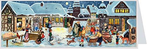 Richard Sellmer Verlag Adventskalender zum Verschicken Weihnachten auf dem Land XL Panorama-Karte