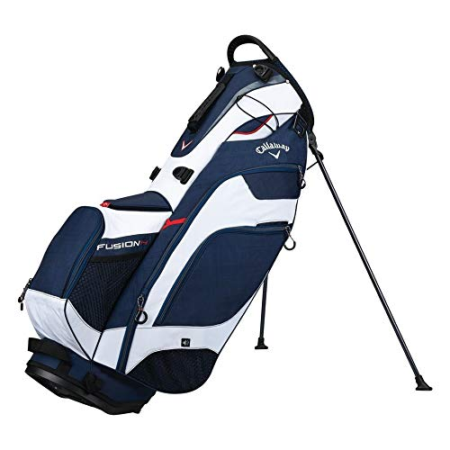 Callaway Golf 2018 Fusion Stand Bag, Navy/ White/ Red