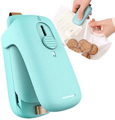 wkwk Mini máquina de Sellado 2 en 1,portátil,sellador térmico de Cocina de Mano para Bolsas de plástico,Almacenamiento de Alimentos,Sellado de Bolsas Frescas (no Incluye batería)