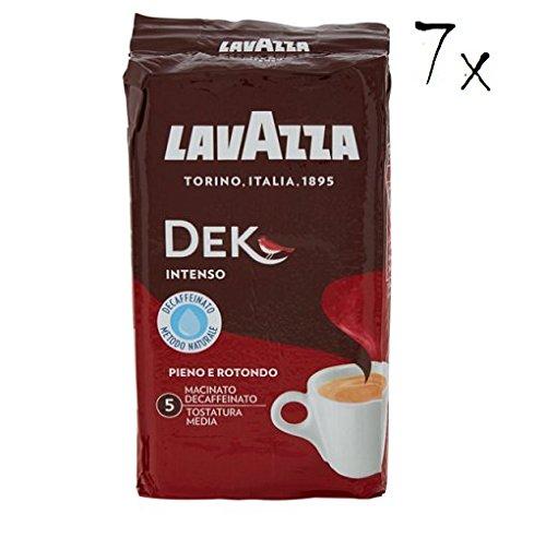 7x LAVAZZA DEK Intenso Entkoffeiniert Kaffee 250g gemahlen Italienisch Espresso