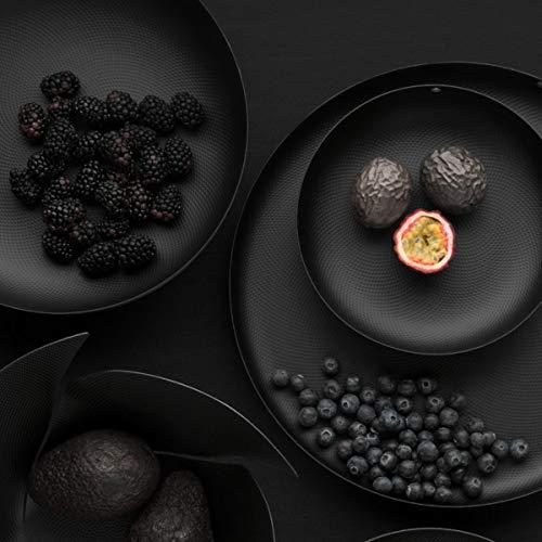 Alessi JM17/24 BT Textures & Colours Rundkorb, Stahl mit Epoxidharz gefärbt, Schwarz