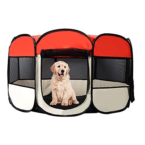 Starlike Welpenlaufstall Hundelaufställe Katzenhaus Freilaufgehege für Hunde Tierlaufstall, Wasserdichtes Zelt für Kleintiere wie Hunde, Katzen