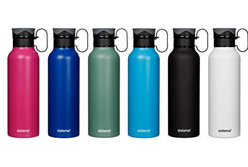 Sistema Edelstahlflasche, farblich Sortiert, 600 ml