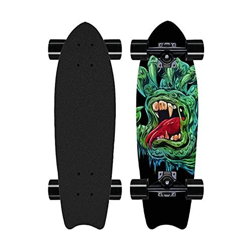 28'Profesional Surfskate Talling Skateboard, Street Surfing Pumpping Skateboard, Principiante Concav