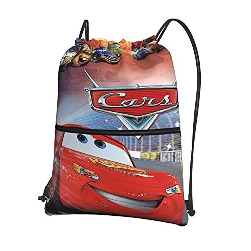 Disney Cars Lightning McQueen - Mochila de natación impermeable con cordón para gimnasio, para adolescentes, hombres y mujeres