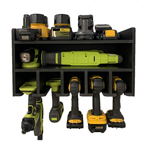 Power Tool Organizer, BEHR-ENGR Drill Organizer Cabinet Wall Rack, Charging Station, Garage Storage