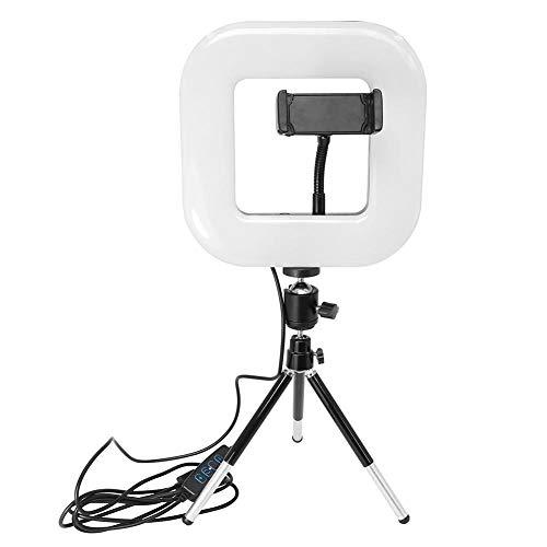 Tuankay 34 W LED Selfie Stick Cuadrado Fill Light Dimmbar Studio fotografía cámara vídeo Live teléfono Soporte lámpara con trípode