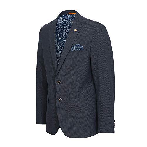 Calamar 3Q74 142710 40 Herren Sakko mit Reverskragen Brusttasche Einstecktuch, Groesse 54, blau