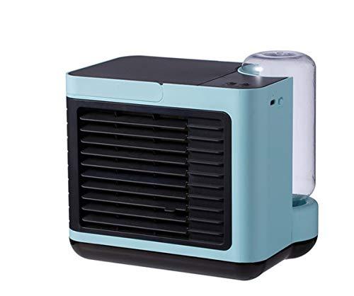 LG Snow Acondicionador De Aire Portátil, Personal De Aire Acondicionado con Función De Humidificador, El Modo Silencioso Ventilador De 3 Velocidades, USB por Evaporación Aire Más Frío (Color : Blue)