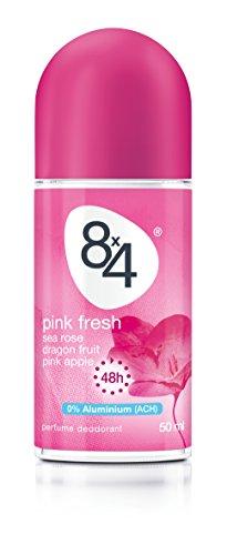 8x4 Pink Fresh Roll-On, 6er Pack (6 x 50 ml)