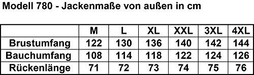 Limitless Herren Motorradjacke mit Protektoren – Textil Motorrad Jacke aus Cordura – wasserdicht winddicht Schwarz Grau Weiß 780 Gr. L - 3